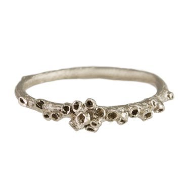 tomfoolery: 18ct White Gold Barnacle Cluster Ring by Ami Pepper