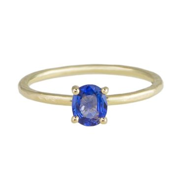 tf one, tomfoolery, 18ct Yellow Gold Oval Blue Sapphire Claw Set Ring