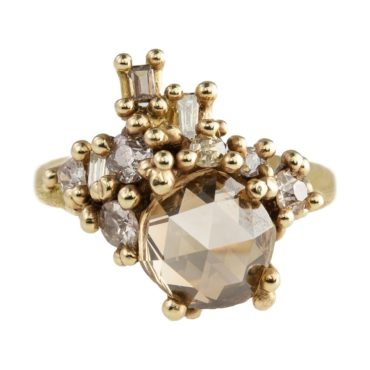 Ruth Tomlinson: One of A Kind 'Treasure' Diamonds 14k yellow gold ring, tomfoolery