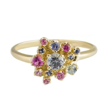 n+a New York, 14ct Yellow Gold Daisy Collage Ring, Tomfoolery