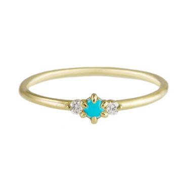 ILA diamond and turquoise ring