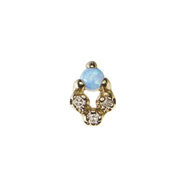 WWAKE, Opal & Diamond Posy Earring, Tomfoolery