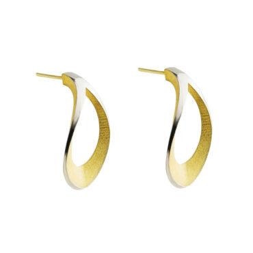 Sarah Herriot, Silver Mirror Twist Earrings, Tomfoolery
