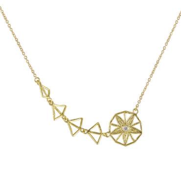 tomfoolery: Claire Macfarlane  Asymmetric Diamond Shooting Star Necklace