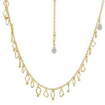 tomfoolery: Chunky Gold Vermeil & Green Amethyst Necklace  by Bea Jareno