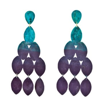 We Dream In Colour, Ocean Ombre 'Kiketta' Drop Earrings, Tomfoolery
