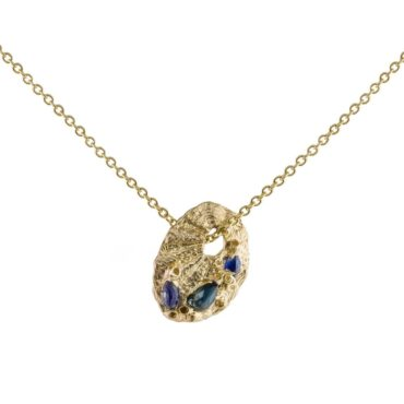 tomfoolery: Sapphire Limpet Pendant by Ami Pepper