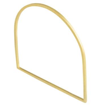 tomfoolery, Gold Plated Geometric Bangle, cristina zani