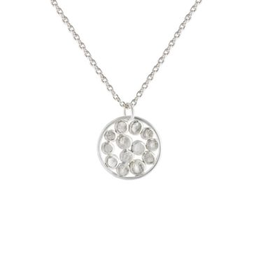 Tomfoolery, Emily Collins, Small Silver Circle Cluster Pendant Necklace
