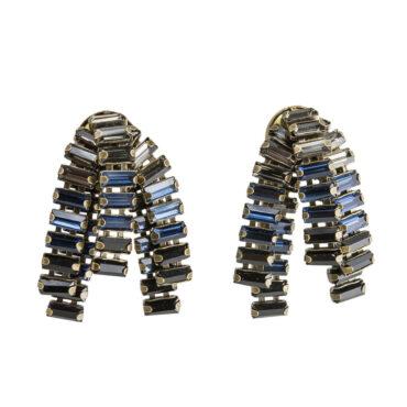 TataBorello, Navy Blue Medusa Earrings, Tomfoolery
