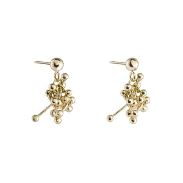 Yen, Molecule Joy 9ct Yellow Gold Cluster Earrings, Tomfoolery