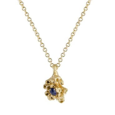 tomfoolery: Small Sapphire Barnacle Pendant Necklace by Ami Pepper