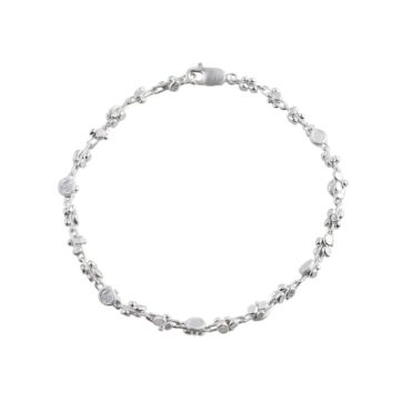 Tomfoolery, Emily Collins, Small Silver Circle Cluster Bracelet