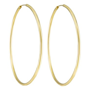 Tomfoolery, Extra Large Gold Plated Silver Hoop, Tf Hoops