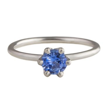 Tomfoolery; 18ct White Gold and Ceylon Sapphire Ring, Shimara Carlow