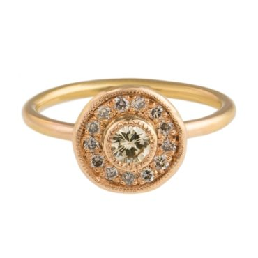 Mia Chicco, Champagne Diamond & 18ct Rose Gold Aurelia Ring, Tomfoolery