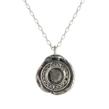 Monica Lara, Green Sapphire & Silver Chain Wheel Necklace, Tomfoolery