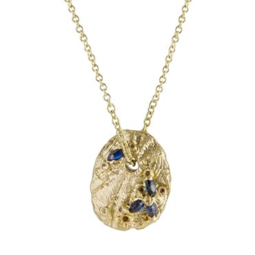 tomfoolery: Multi Sapphire Limpet Pendant Necklace by Ami Pepper