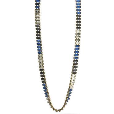 TataBorello, Navy Blue Aretha Necklace Long, Tomfoolery