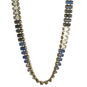 TataBorello, Navy Blue Aretha Necklace, Tomfoolery