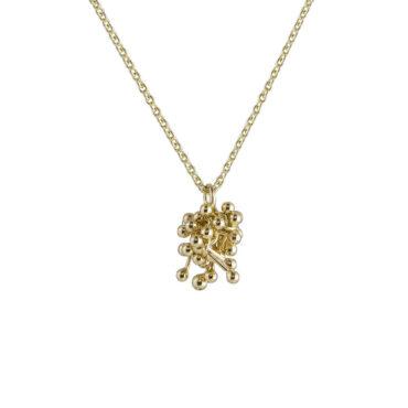 Yen, Molecule Joy 9ct Yellow Gold Cluster Necklace , Tomfoolery