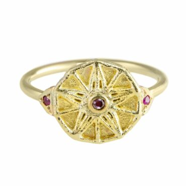tomfoolery: Coin Ruby Ring