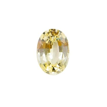 0.83ct Ethical & Natural Soft Yellow Oval Sapphire, tf Stones
