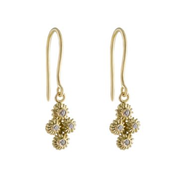 Helene Turbe, 18ct Gold Diamond Aime Earring, tomfoolery