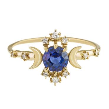 Sofia Zakia, Sapphire Wandering Star Ring, Tomfoolery
