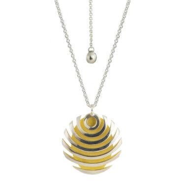 Sarah Herriot, Silver Fish Button Necklace, Tomfoolery