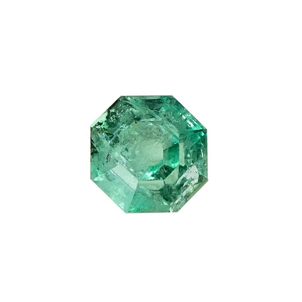 Tomfoolery, Hexagon Cut Colombian Emerald, tf Stones
