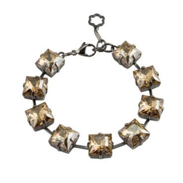 tomfoolery Square Crystal Bracelet