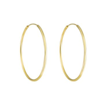 Tomfoolery, Large Gold Plated Silver Hoop, Tf Hoops
