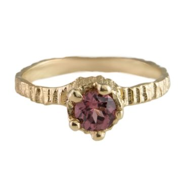 tomfoolery, 9ct Yellow Gold & Pink Tourmaline Engagement Ring, Eily O'Connell