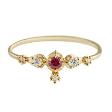 Sofia Zakia, Ruby & Diamond Shalimar Ring, Tomfoolery