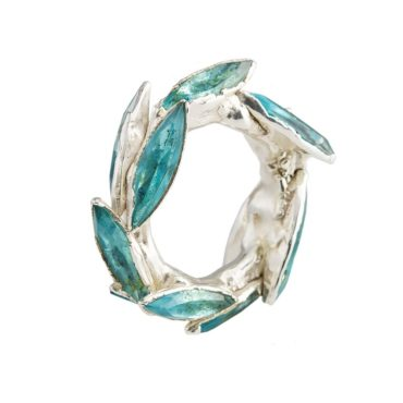 Maud Traon, Blue & Silver Chunky Ring, Tomfoolery