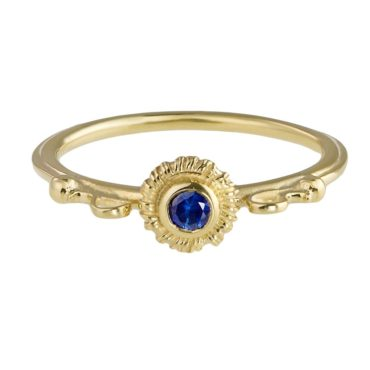 Helene Turbe: 18ct Yellow Gold & Sapphire Roma Ring, tomfoolery