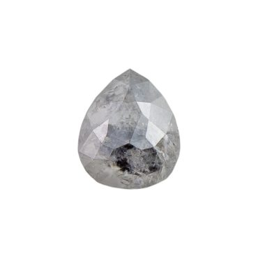 0.49ct Grey Pear Rose cut Diamond , tf Stones