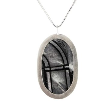 Ruth Brown, Silver Quin Pendant Necklace, Tomfoolery
