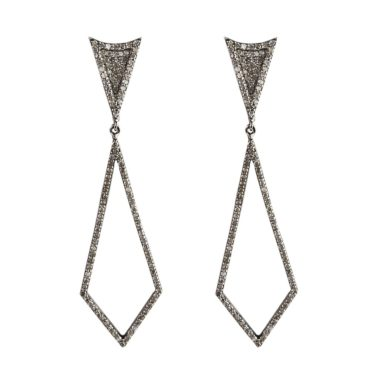 tf Collective, Diamond & Black Rhodium-Plated Silver Kite Earrings, Tomfoolery