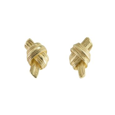 Marion Lebouteiller, Absolu Knot 18ct Yellow Gold Studs, Tomfoolery