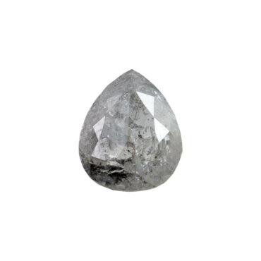 0.53ct Grey Pear Rose cut Diamond, tf Stones