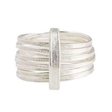 tomfoolery, Latham and Neve, Silver Wide Wrap Ring
