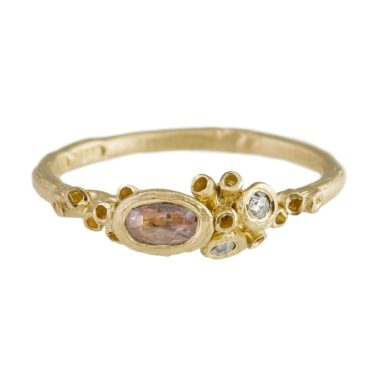 tomfoolery: OOAK 14ct Yellow Gold Diamond Ocean Ring by Ami Pepper