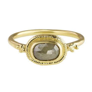 Helene Turbe: Rose Cut Grey Diamond Josephine Ring, tomfoolery
