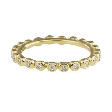Helene Turbe, 18ct Yellow Gold & Diamond Eternity Ring , tomfoolery