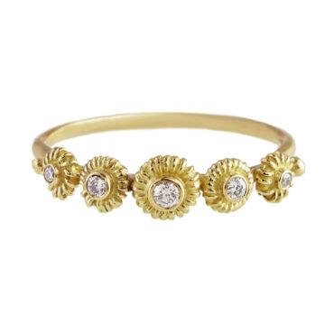 Helene Turbe, 18ct Gold Diamond Appoline Ring, tomfoolery