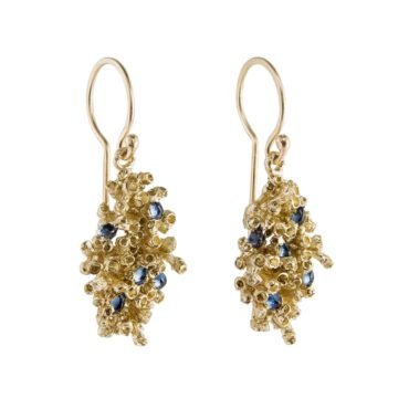 tomfoolery: Large Sapphire Barnacle Drop Earrings by Ami Pepper