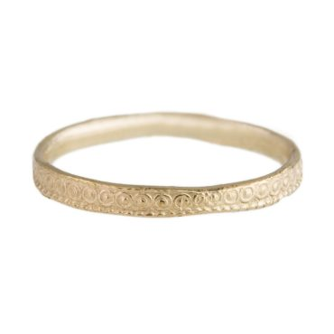 Monica Lara, 14ct Yellow Gold Tiny O Texture Wedding Band, Tomfoolery
