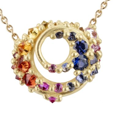 Polly Wales, Ursa Sapphire Pendant Necklace, Tomfoolery